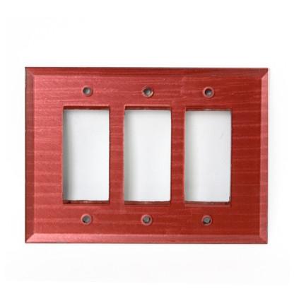 Coral GlassTriple Decora Switch Cover