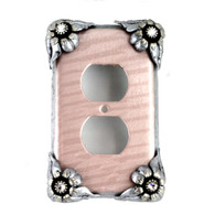 bloomer single duplex outlet cover lily