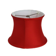 Lamp shade drum in silk poinsettia red
