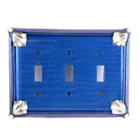 Cleo Triple Toggle Switch Cover Lapis
