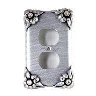 Bloomer Ice Single Duplex Outlet Cover