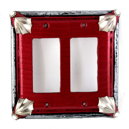 Cleo Double Decora Rocker Switch Cover Ruby