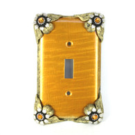 Bloomer SingleToggle Switch cover sunflower