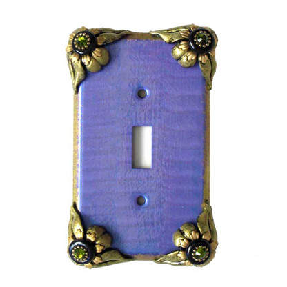 bloomer Iris single toggle switch cover