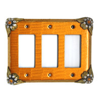 Bloomer Sunflower Triple Decora Switch Cover
