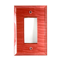 Glass single decora switch plate in coral