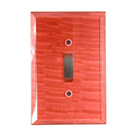 Coral Glass Single Toggle Switch Cover