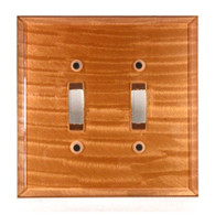 Amber Glass Double Toggle Switch Cover