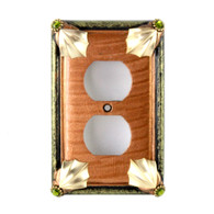 Cleo Amber Single Duplex Outlet Cover