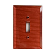 Agate Glass Single toggle switch cover