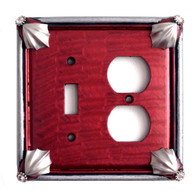 Cleo Ruby Duplex Outlet Toggle Switch Cover