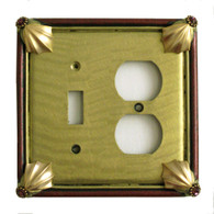 Cleo Jade Duplex Outlet Toggle Switch Cover