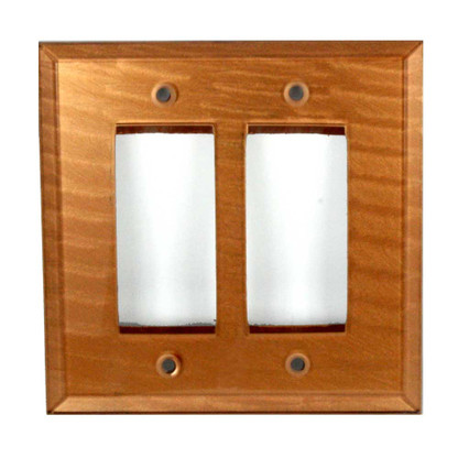Glass Double Decora Switch Cover Amber