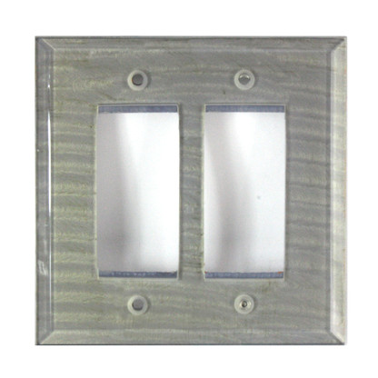 Deep Opal Glass Double Decora Switch Cover