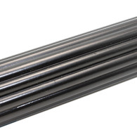 """Reeded wooden rod with black paint finish 1 3/8"""" diameter"""