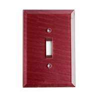 Garnet Glass Single Toggle Switch Cover