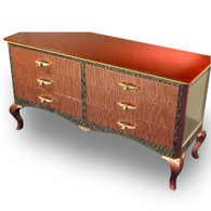 Bolero 6 Drawer Dresser with Amber Paint Finish and Orbit Pulls