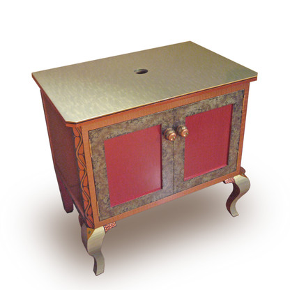 Charisma Vanity Sink Cabinet in Ruby paint finish