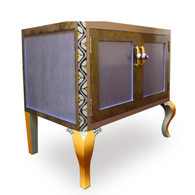 Charisma Vanity Sink Cabinet in Light Sapphire paint finish