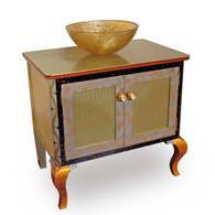 Charisma Vanity Sink Cabinet in Jade paint finish.