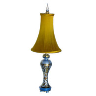 Seaside Sara Accent Lamp with Bell Shade silk Nugget