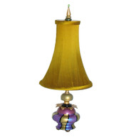 Iris Accent Lamp with Bell shade in silk Nugget