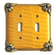 Bloomer doubleToggle Switch cover sunflower