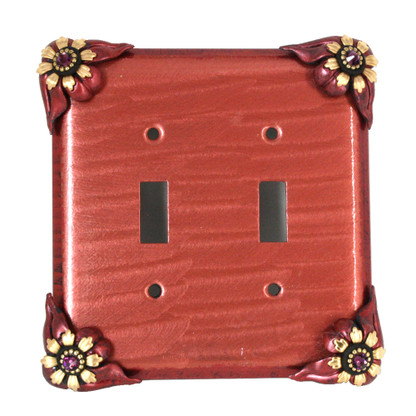 Bloomer Poppy Double Toggle Switch Cover