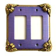 Bloomer Iris Double Decora Switch Cover