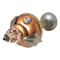 Drapery Tieback Birdie with silver metal details and Swarovski crystal