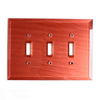 Coral Glass Triple Toggle Switch Cover