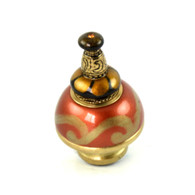 Nu Carnival Knob copper 1.5 Inches Diameter with gold metal accents
