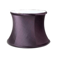 Lamp shade small drum in dupioni silk sugar plum
