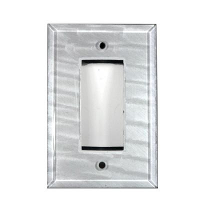 Silver Glass Single Decora Switch Cover