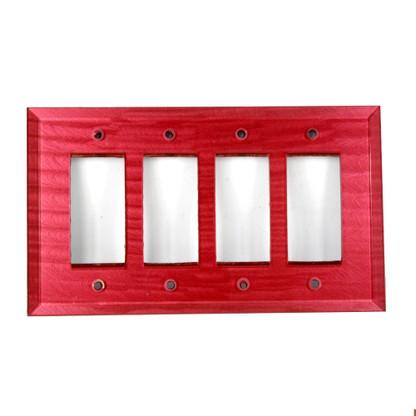 Ruby Glass Quad decora Switch Cover