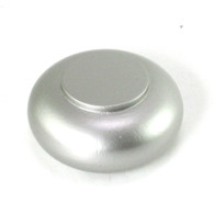 Drapery Rod Finial End Cap in silver paint finish