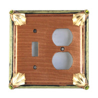 Cleo duplex outlet single toggle combo switch cover in amber