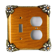 Bloomer Sunflower Duplex outlet single toggle switch cover