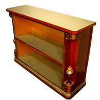 Mirage bookcase with one fixed shelf and decorative finials