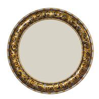 """Aurora Mirror 36"""":round in Jonquil color scheme"""
