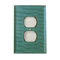 Glass Single Duplex Outlet cover Aqua