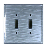 Light Sapphire Glass Double Toggle Switch Cover