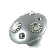 Mini Style 6 Silver 2 in. diameter with silver metal details and Swarovski crystals.