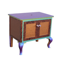 Charisma Vanity Sink Cabinet in amber copper  paint finish
