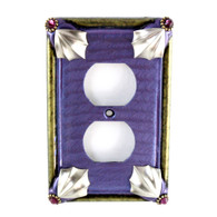 Cleo periwinkle single duplex outlet cover