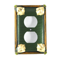 Cleo Single duplex outlet cover emerald