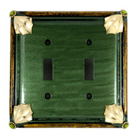 Cleo Double Toggle Switch Cover Emerald