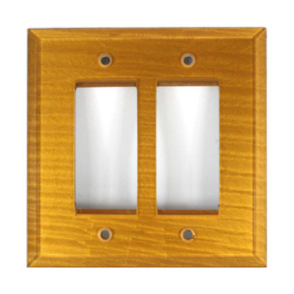 Deep Gold Glass Double Decora Switch Cover