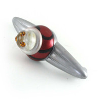 Congo Light Ruby Orbit Pull 5.25 in. with 4 in. hole span has topaz crystals