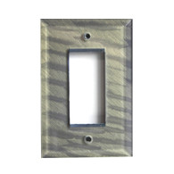 Deep Opal Glass Single Decora Switch Plate